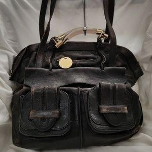 B8,730 Chloe Saskia Black Shoulder Bag